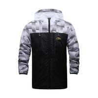 2017 Spring Summer Windbreaker Dot Hole Breathable Casual Jacket Men Sportswear Hooded Zipper Coats 170267