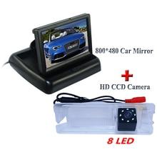 """HD LCD 4.3 """"экран + 8 светодиодов + ПЗС заднего монитора и Автомобильная камера заднего вида для Nissan марта Renault Logan/Sandero"""