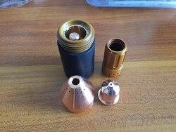 220819 nozzle tip 65A 25pcs + 220842 electrode 25pcs plasma cutter torch consumable kits Free Shipping PKG/50