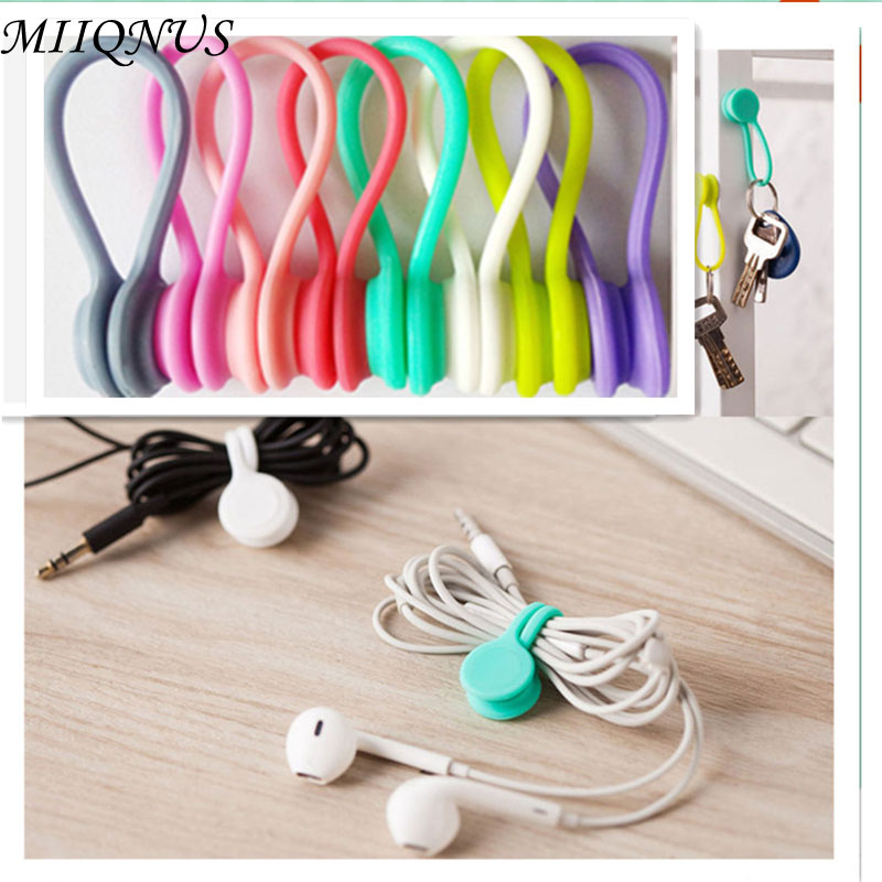 3 pcs Fashionable Hot Multi functional Magnet Earphone Cord Winder Cable Holder Organizer Clips big sales