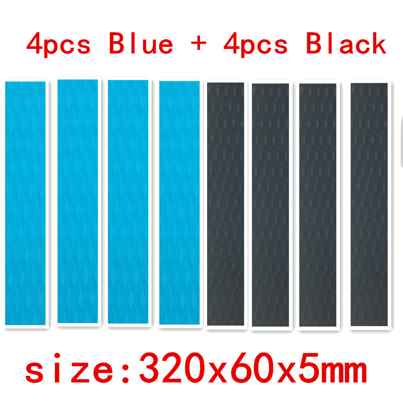 8pcs 320*60*5mm Surfboard Deck Pad Daimond Line FR EVA Deck Grip Has Adhesive  Sup Deck Pad In Surfing Skiing Sports