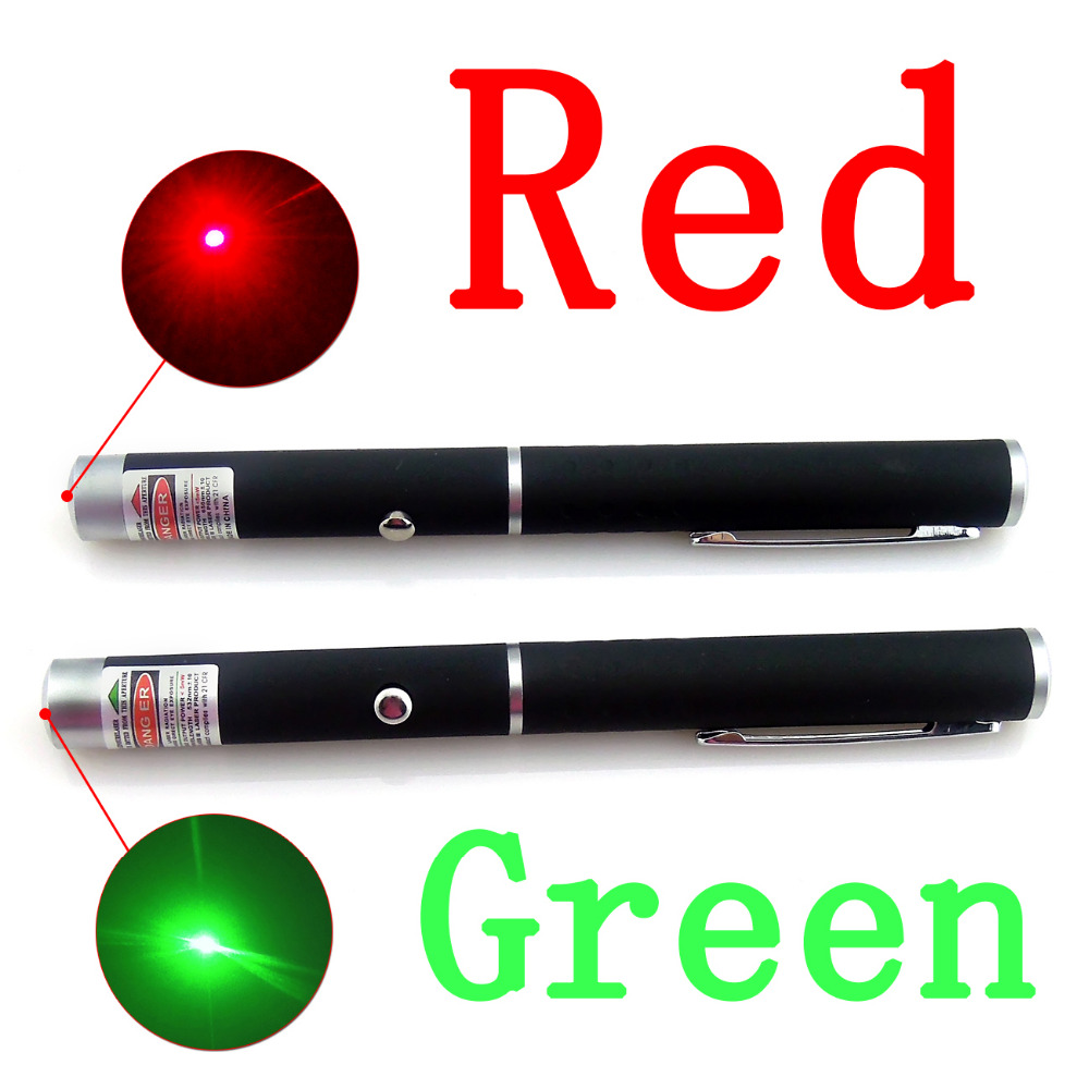 High Quality Powerful Laser Pointer Pen 5MW 650nm Red Green Laser Pen,1pc Black Strong Visible Light Beam Laserpointer