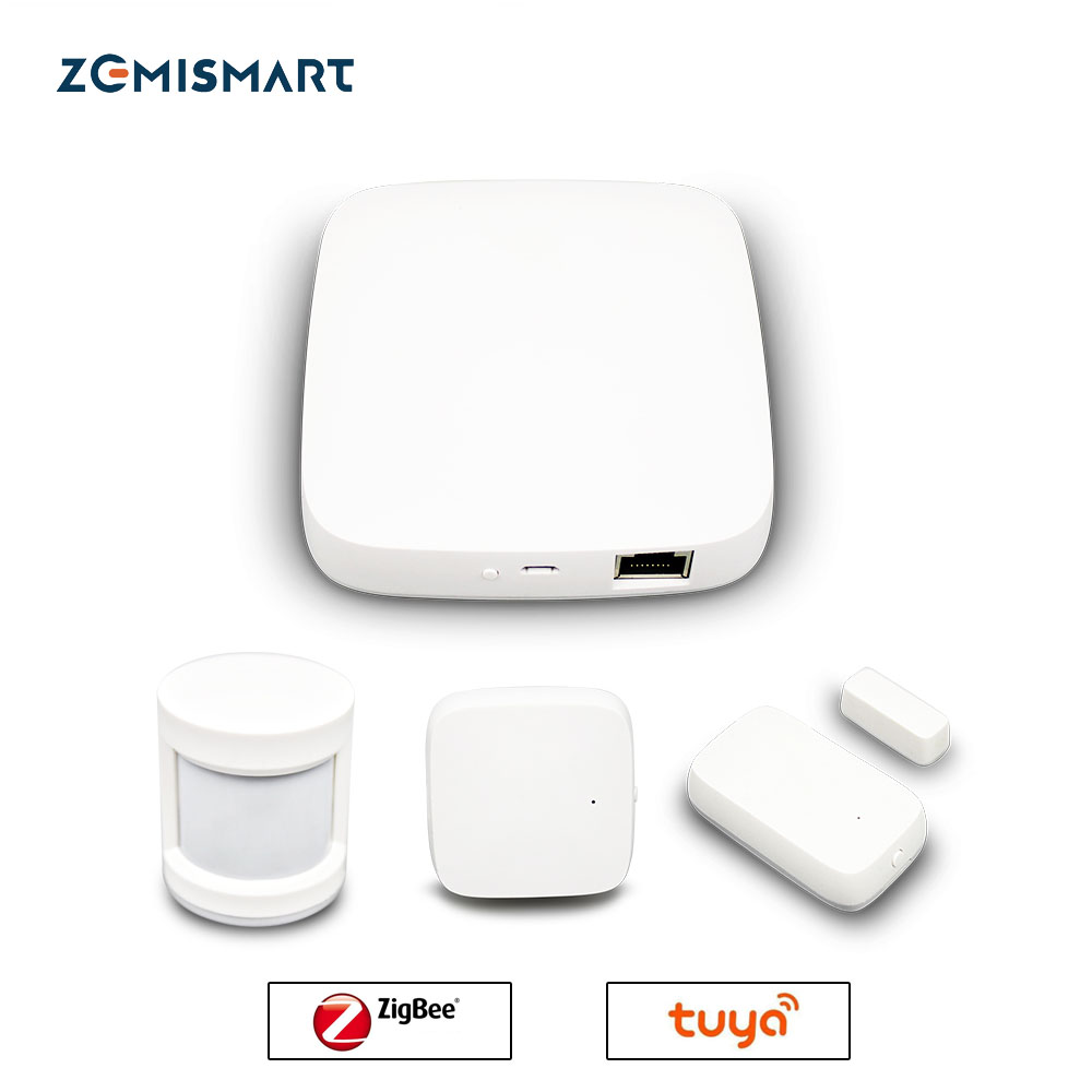 Tuya ZigBee Smart Gateway Hub Smart Home Bridge Smart Life APPAlexa Google Home Enable With Zigbee 3.0 Security Sensor Switch