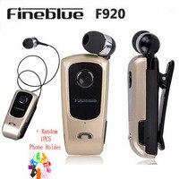 New Original Brand Wireless Bluetooth Headphone FineBlue F920 Calls Remind Vibration Wear Clip Headset For IPhone