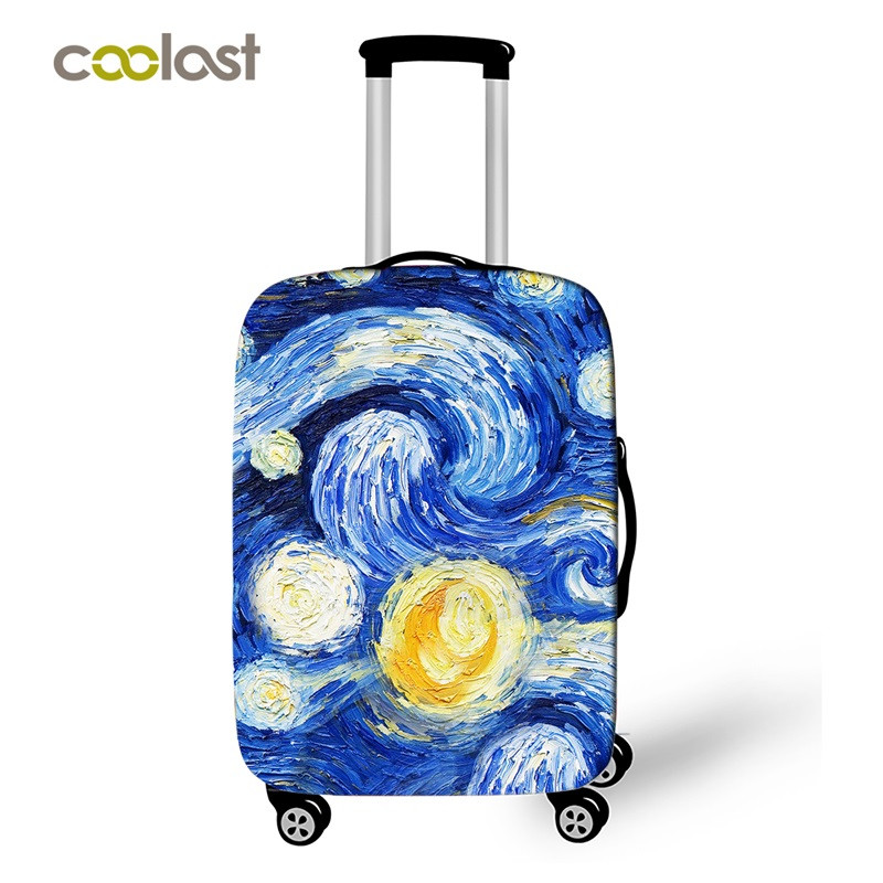 Deep Blue Pet Unicron Travel Suitcase Protector Zipper Suitcase Cover Elastic
