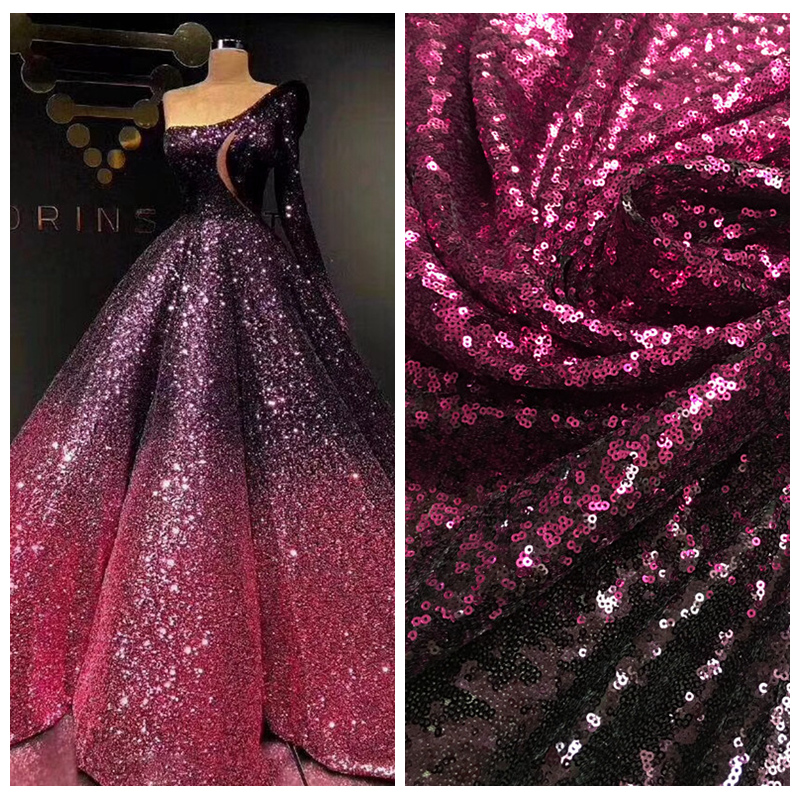 76541a55ec US $14.58 |LASUI NEW 20 colors available 3MM encryption sequin gradient  mesh lace fabric Evening dress show clothe Party dress fabric W0041-in  Fabric ...