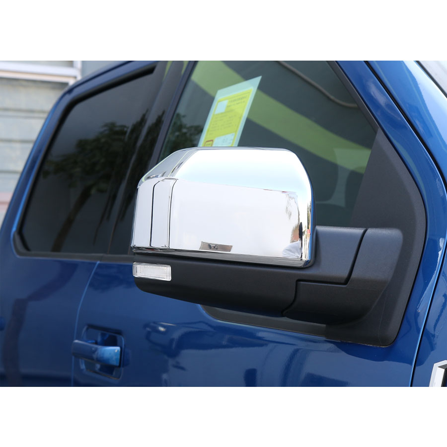 2Pcs set Chrome ABS Car Rear View Rearview Mirror Cover Trim Sticker Fit For Ford F150