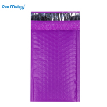 10pcs #000 Poly Bubble Mailers 4x8 Inch/130*180mm Envelopes Purple Lined Mailer