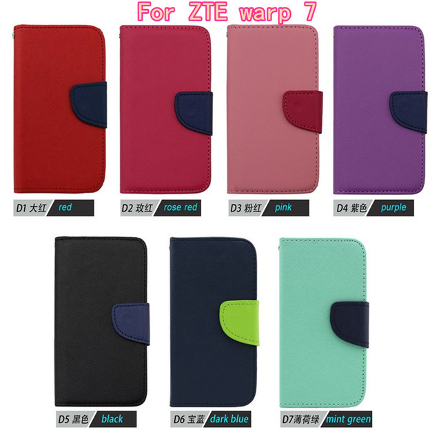 Newest Vintage High Quality Leather Design Flip Wallet Mobile Phone Case For ZTE warp 7 N9519 Cover Credit Card Slots Free DHL