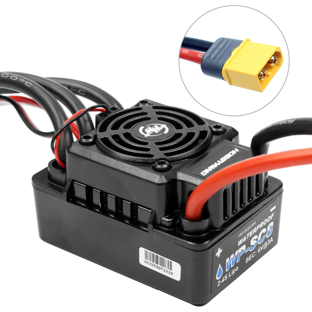 F17814 Hobbywing EZRUN WP SC8 120A Waterproof Speed Controller Brushless ESC for RC Car Short Truck wp sc8 waterproof 120a brushless esc splash water proof dust ezrun wp sc8 esc 2 in 1 multi functional professional programming