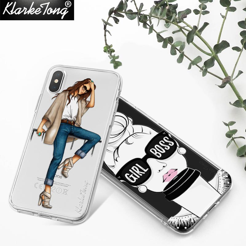 KlarkeTong Cute Funny Quotes Girl Boss Case For iPhone X 8