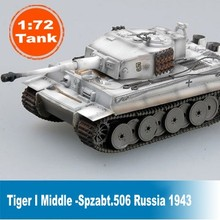 התאסף טנק דגם 1: 72 Scale סטטי טנק דגם טייגר התיכון Spzabt.506. רוסיה 1943 טנק דגם 36214