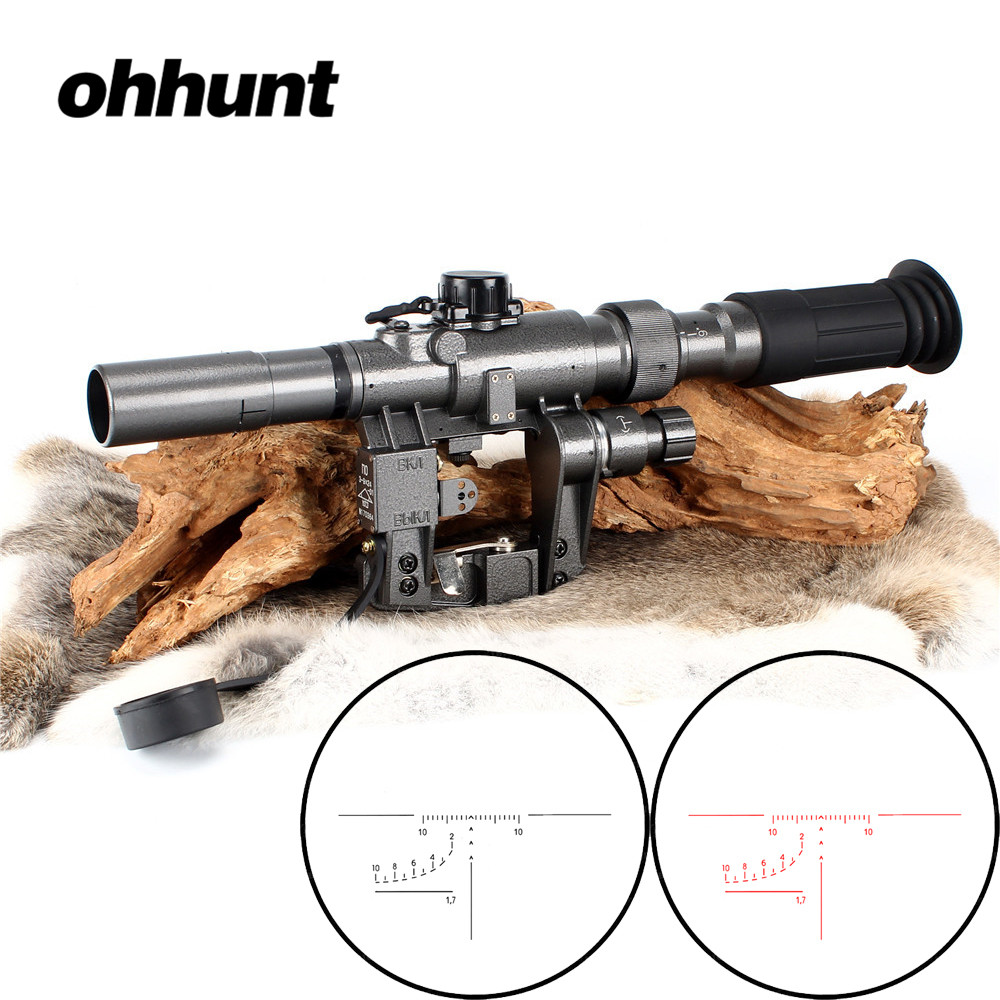Tactical Rifle Scope Red Illuminated 3-9x24 SVD Sniper - Jakt