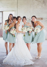 2016 Peach Light Blue Bridesmaid Dresses Short Coral Colored Pink Grey Orange Maid Of Honor Dresses