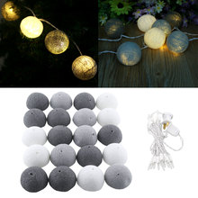 20 Cotton Ball Aladin Romantic Gorgeous Fairy String Light Party Christmas Tree Decor Decoration 3M