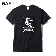 Kamaz Truck Car Logo Men T Shirts T-shirt Brand Clothing Automobile T-shirts For Man Short sleeve Top 3XL O Neck Mens Printed