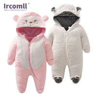Ircomll Fashion Newborn Baby Rompers For Kids Boys Girls Clothes Hooded Cartoon Brands Jumpsuit Infant Costume Baby Outfits