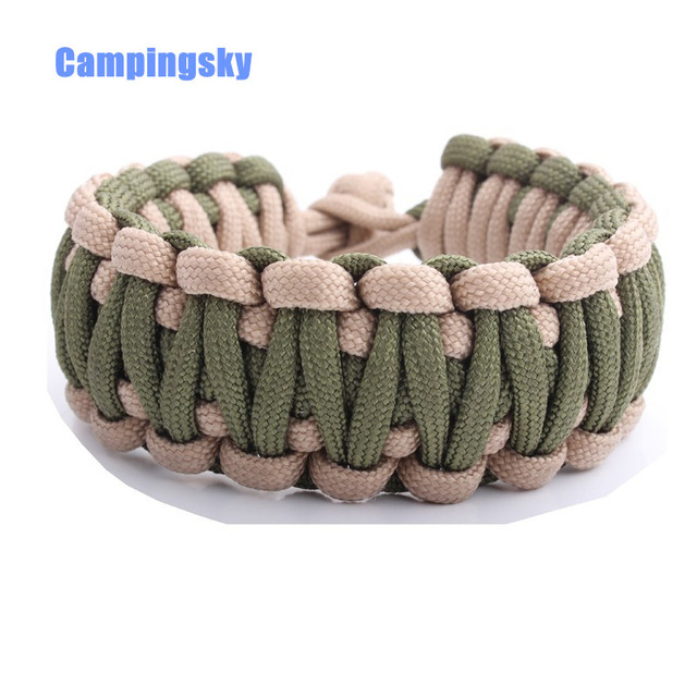 Campingsky Double Paracord 550 Survival Bracelet For Hiking Camping