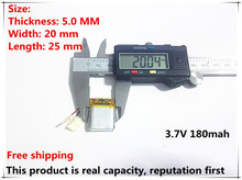 Free shipping 3.7V lithium polymer battery 052025 502025 180mah MP3 MP4 MP5