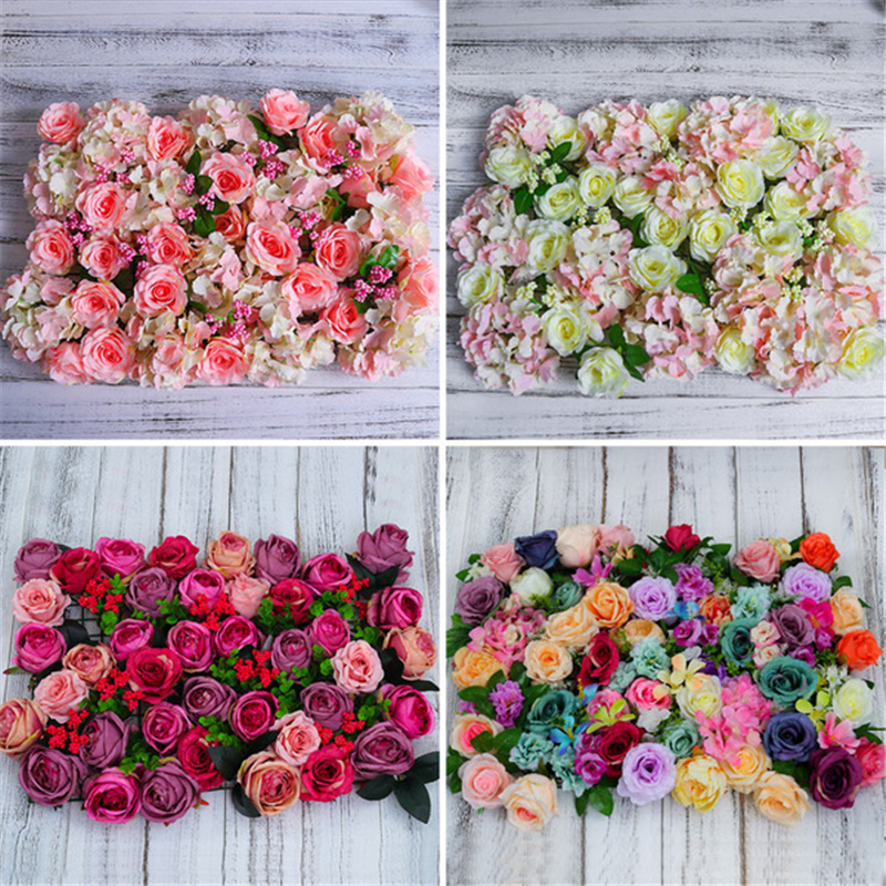 Diy Plastic Flower Rose Artificial Wall Party Backdrop Lawn Pillar Road Lead Wedding Decoration In Backdrops From Home Garden On