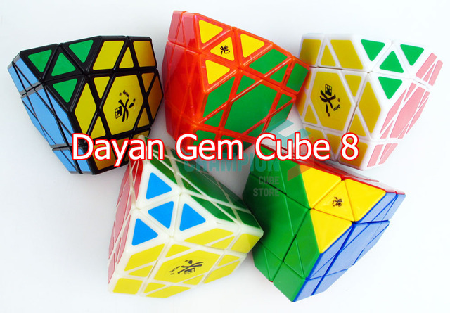 DaYan Gem Cube VIII  Magic Cube White And Black Toy for Learning &Education