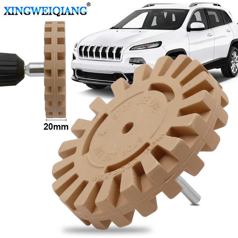 4 Inch Rubber Eraser Wheel Strip Off Wheels Pinstripe Double Sided Adhesive Vinyl Decal Graphics Removal Tool