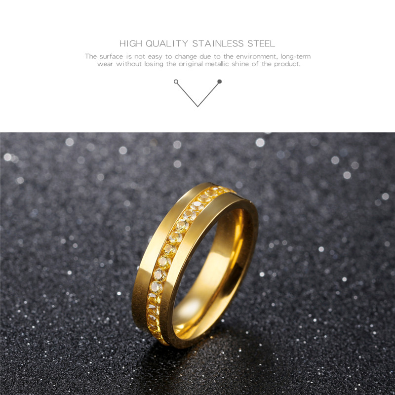 Gold Blau Schwarz Titan Ring Männer 6mm Ring Edelstahl Ringe für