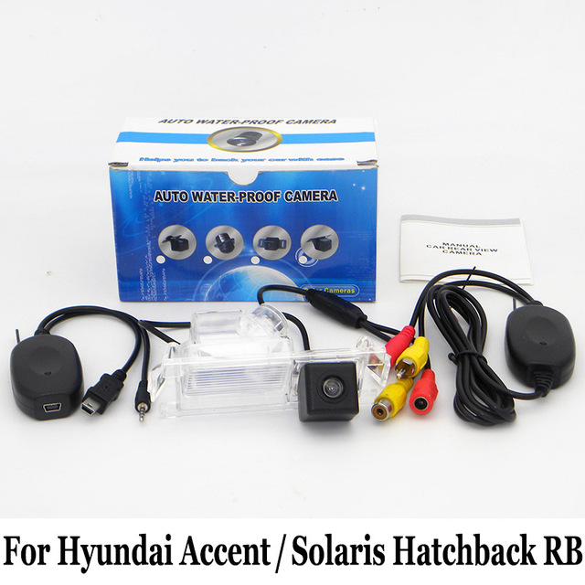 Car Rearview Camera For Hyundai i25 Accent / Solaris Hatchback RB / RCA AUX Wire Or Wireless HD CCD Night Vision Parking Camera