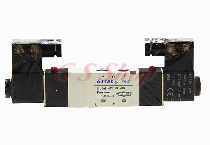 1pcs 1/4'' Ports 4V230C-08 DC 12V 3 Position 5 Way Air Solenoid Valve