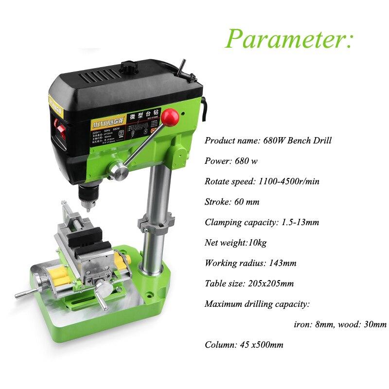 Bohren Maschine Fräsen Kleine Fresadora Tisch Bohrmaschine Mühle Maschine 220v Multi-funktion Industrielle Perlen Machen Werkzeug 680W