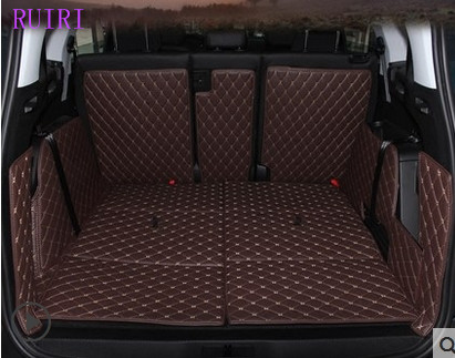Good quality! Full set car trunk mats for Peugeot 5008 7 seats 2019 2018 2017 waterproof cargo liner boot carpets,Free shipping