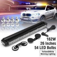 12V 36/54LED White Flashing Light Bar FIREMAN OFFROAD Car Flash Light LED Strobe Hazard Warning Emergency Fog Lamp