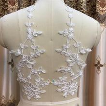 10Pieces Wedding Dress Lace Applique Head Ornaments Trim Material Scrapbooking Accessories Diy Craft