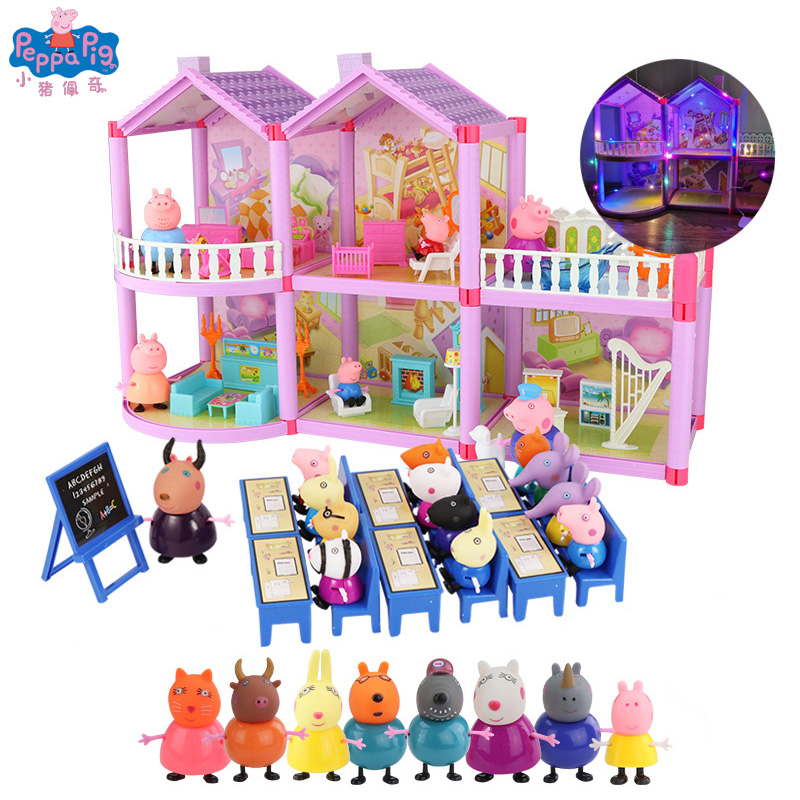 New Peppa Pig Figures Toys Series Of Amusement Park Toys PVC Action Figures Family Member Peppa Pig Toy Baby Kid Birthday Gift
