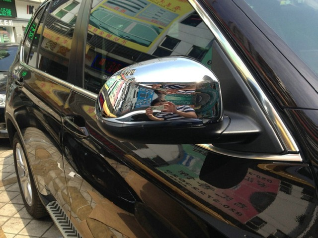 Auto rear view mirror cover,car side mirror cap for  X6 2015,ABS chrome,2pcs/lot,free shipping