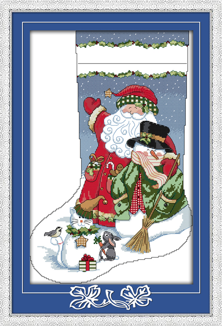 christmas stocking counted cross stitch christmas stockings nicholas santa father gift diy gift embroidery needlework set