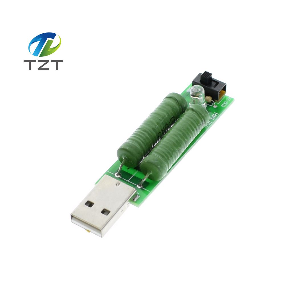 1pcs Usb Port Mini Discharge Load Resistor Digital Current Voltage Meter Tester 2a/1a With Switch 1a Green Led Active Components 2a Red Led