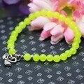 6mm Prevalent Fashion Yellow Lemon beads Chalcedony Bracelet hand chain for women girls Ladies Pendant Mandarin Duck Jewelry