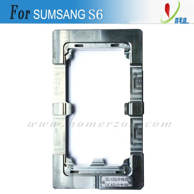 Hot UV Glue(LOCA) Alignment Mould Mold For Samsung Galaxy S6 LCD Outer Glass Lens Auxiliary Glueing Exchanging Display Screen