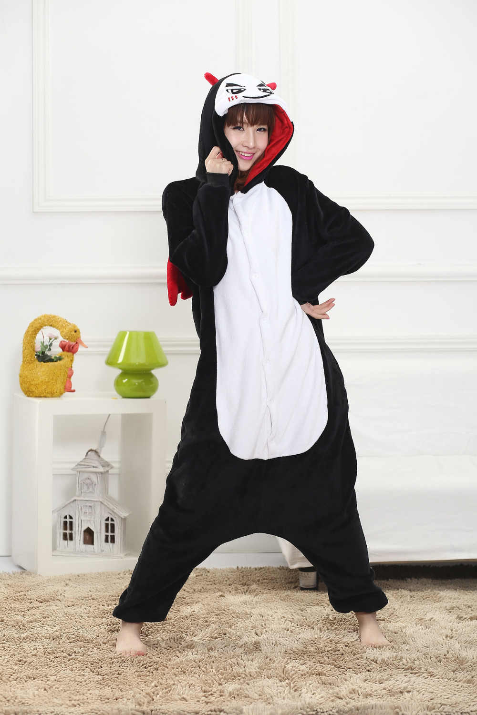 ... Кигуруми Onesie унисекс фланель для взрослых Дьявол пижамы животных  костюм вечерние косплэй партии оригинальная Ночная одежда ... ada5e4bcd334f