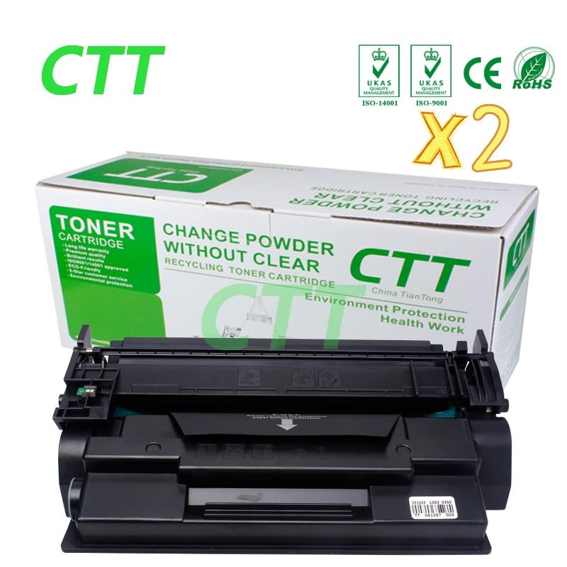 Black 26X 226X CF226X  (2 Pack ) Toner Cartridge Compatible for HP LaserJet Pro M402n/M402d/M402dn/M402dw lcl 80a cf280a 3 pack black toner cartridge compatible for hp laserjet pro 400 m401a d n dn dw 400 m425dn dw