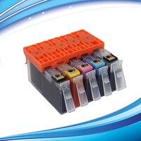 Tinta de 5 piezas para HP364XL con nivel de tinta de muestra de Chip para HP Photosmart 5510 5515 6510 7510 B8550 C5324 c5380 C6324 C6380 D5460