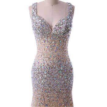 Baijinbai Long Evening Dresses Vestido de festa New Fashion Sweetheart High Slit Sheer Crystal Beaded Open Front Formal Dress