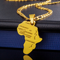 Africa Pendant 2016 New Platinum/18K Real Gold Plated Unisex Women/Men Fashion African Map Pendant Necklace Hiphop Jewelry