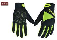 Boodun new bike gloves silicone palm mountain bike ride full finger gloves