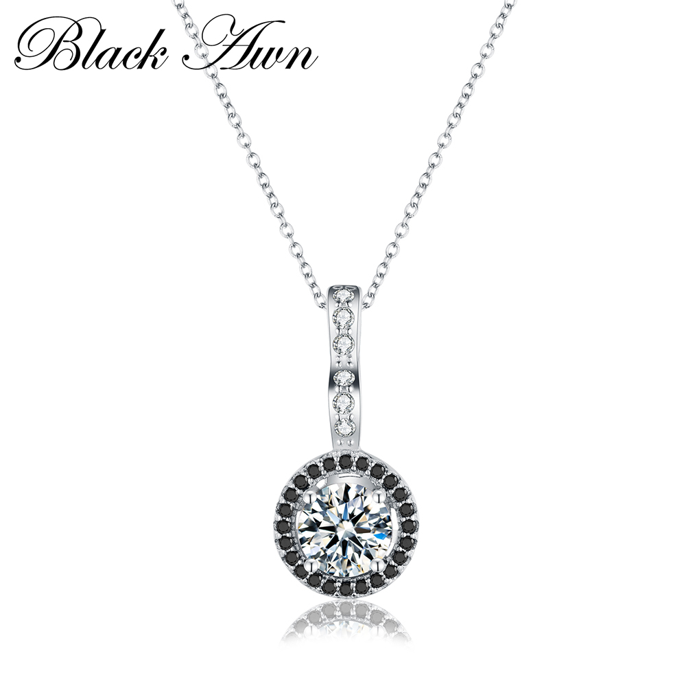 Classic 925 Sterling Silver Fine Jewelry Trendy Engagement Necklaces Pendants For Women Wedding Pendants Bijoux P064