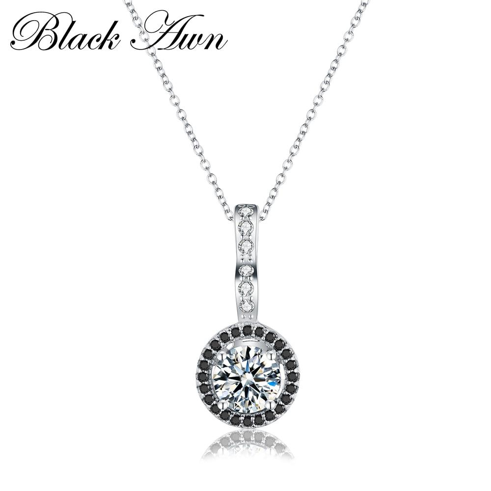Classic 925 Sterling Silver Fine Jewelry Trendy Engagement Necklaces Pendants For Women Wedding Pendants Bijoux P064