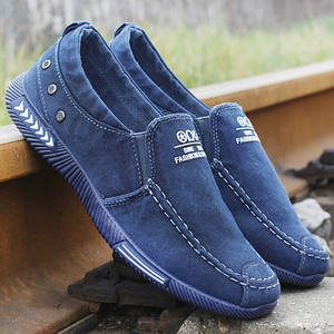 Footwear Canvas-Shoes Men Sneakers Comfort Adult Plus-Size Denim New 46 Loafers