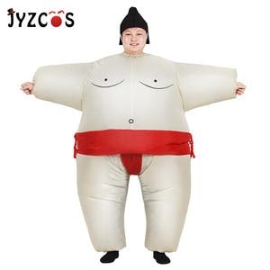 Image 1 - JYZCOS 성인 풍선 스모 양복 레슬링 의상 복장 뚱뚱한 남자 Airblown 스모 실행 컬러 실행 마라톤 코스프레 Purim 할로윈