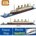RMS Titanic Barco 1860 UNIDS Barco Titanic Modelo 3D Regalo Educativo Del Juguete Bloques de Construcción de Juguete para Niños Compatibles Con legoe